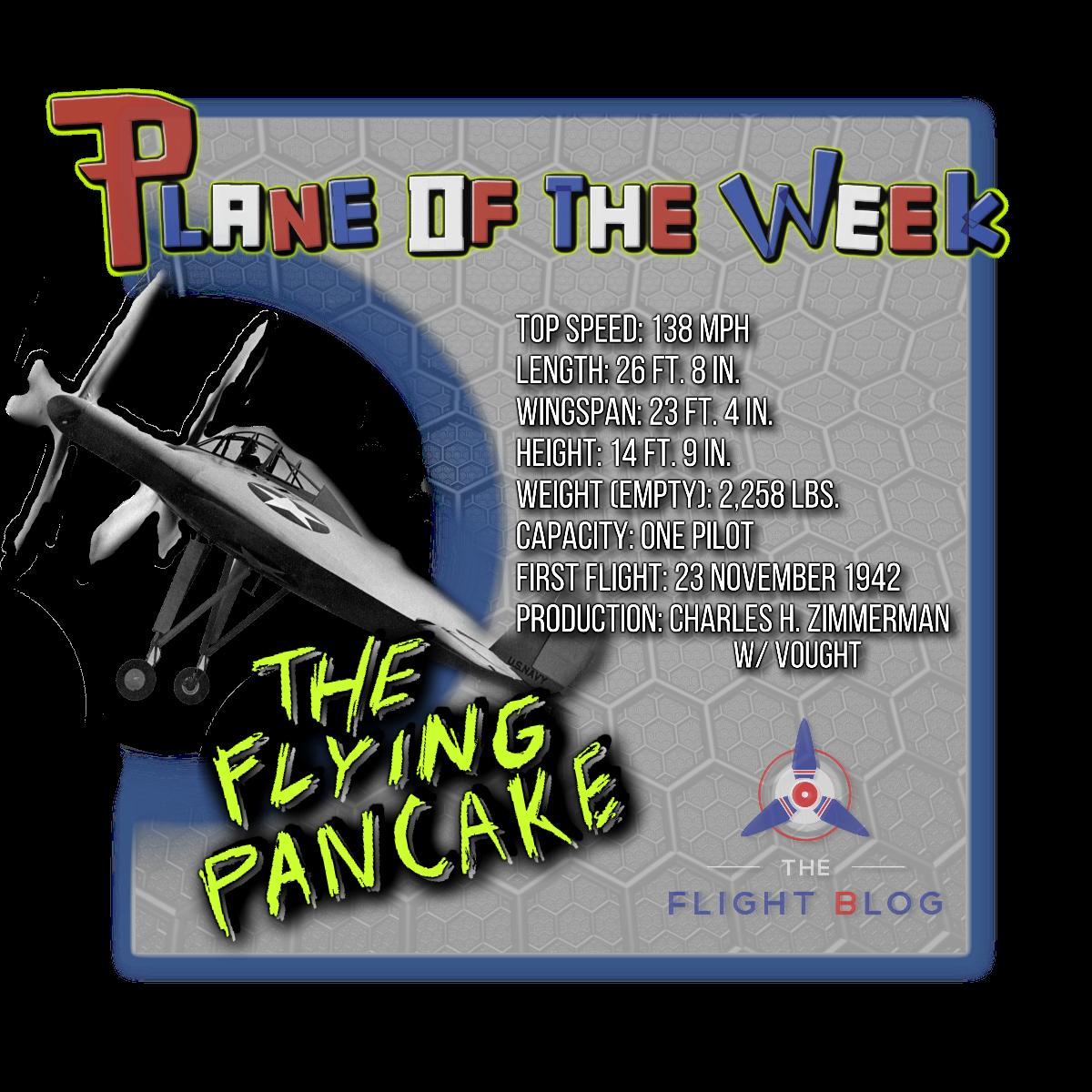 V-173, flying pancake, the flight blog, plane of the week