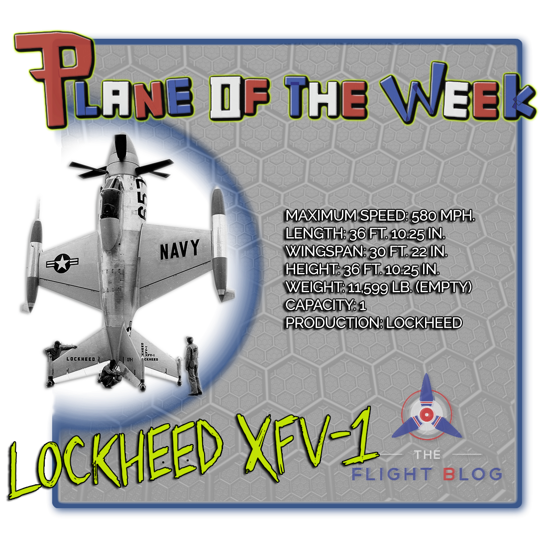 plane of the week, the flight blog, lockheed XFV-1, XFV, salmon, plane specs