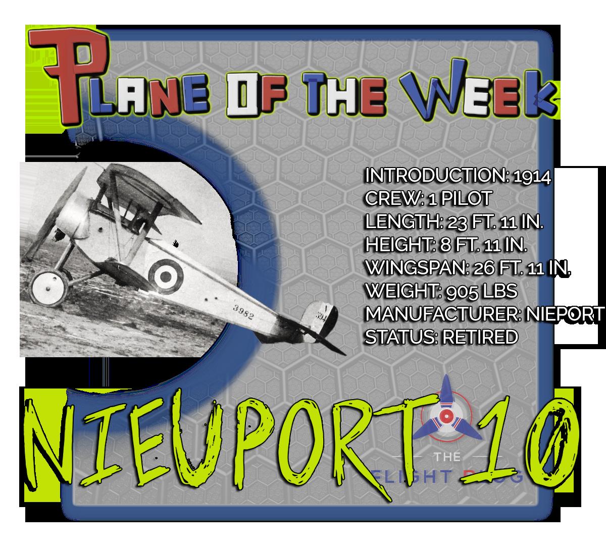 plane of the week, the flight blog, nieuport 10, wwI aircraft, reconnaissance plane