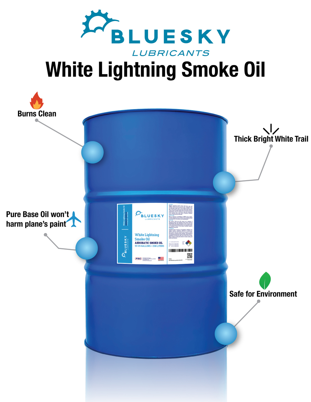 Bluesky Lubricants White Lightning Smoke Oil